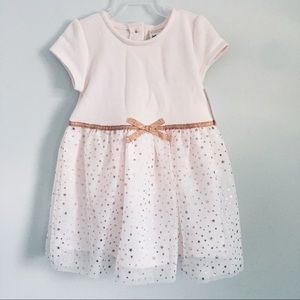 Baby B'Gosh Pink Bronze Shimmer Dress with Bloomer